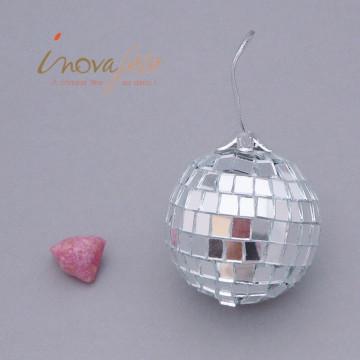 Boule disco argent /4 - Label Fête