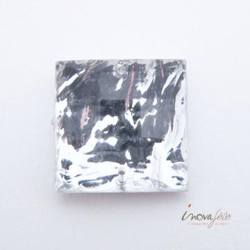 Cabochon carré argent /45 - Label Fête
