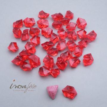 Pierre cristal rouge vif /35 - Label Fête