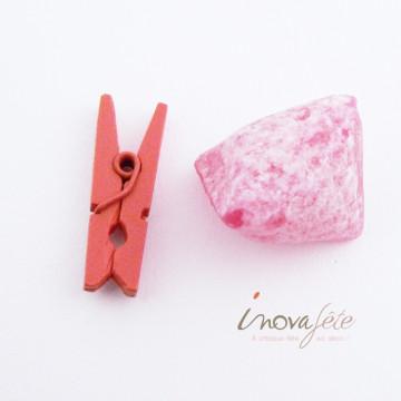 Mini pince bois orange /144 - Label Fête