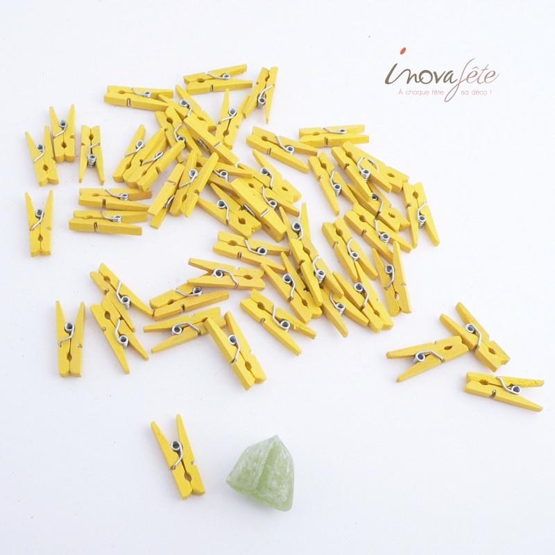 Petite pince jaune /50 - Label Fête