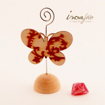 Porte carte papillon, pour un marque place original