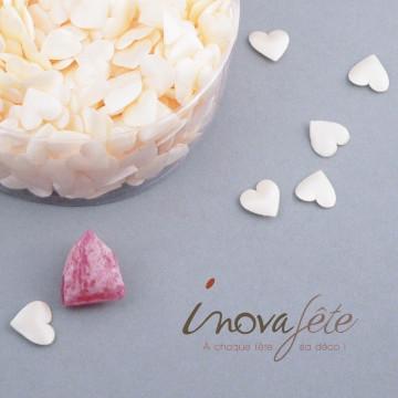 Mini cœur satin ivoire /750 - Label Fête
