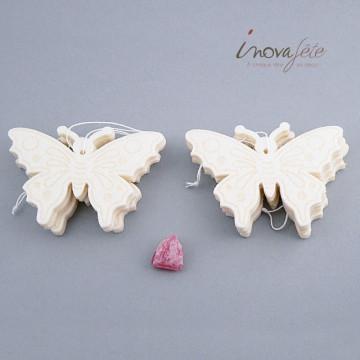 Papillon feutre écru /8 - Label Fête