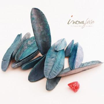 Feuilles trangular bleu - Label Fête