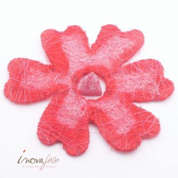 Fleur de sisal rouge /7 - Label Fête