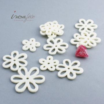 Serviettes blanche décor chic 33x33 cm