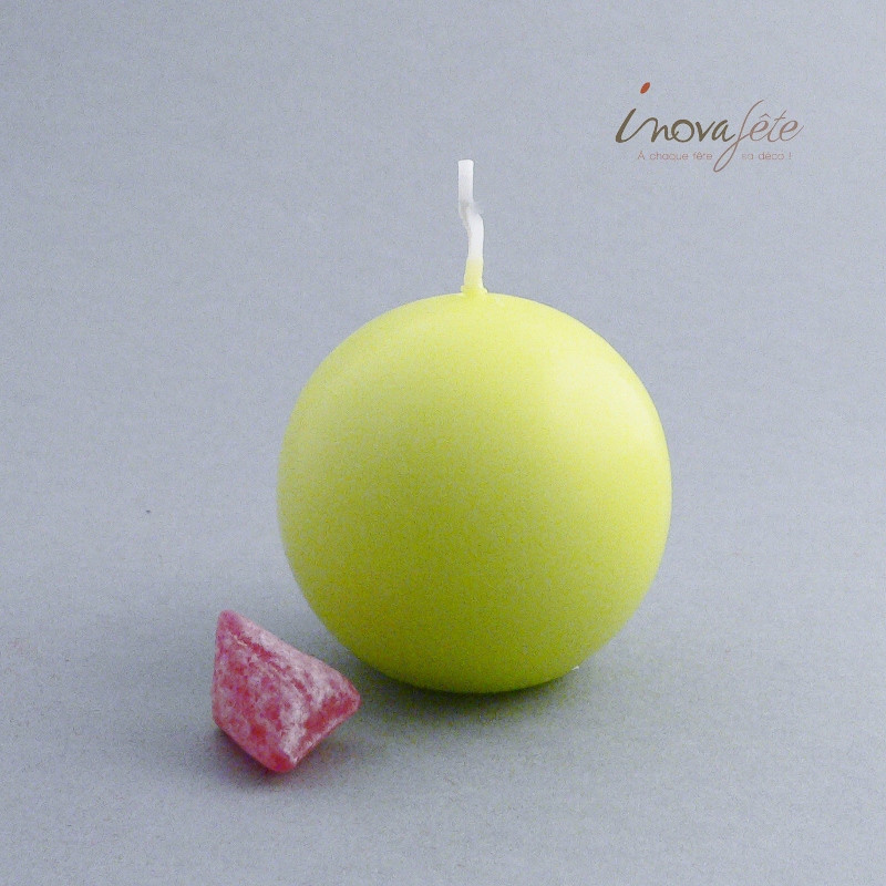 Bougie boule verte 60mm - Label Fête