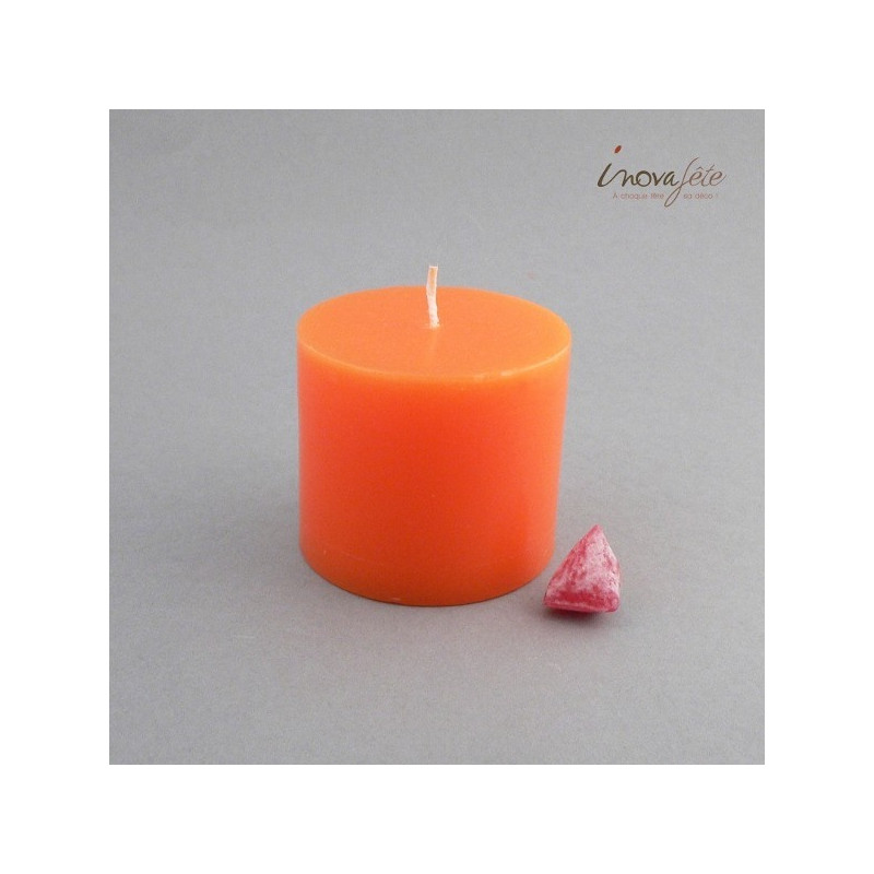 Bougie cylindrique orange