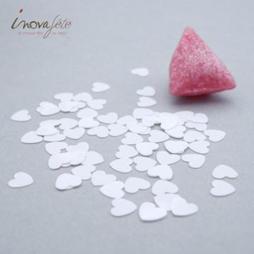 Confettis de table coeur blanc /80gr - Label fête