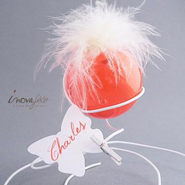 Boule à dragées orange - Label Fête