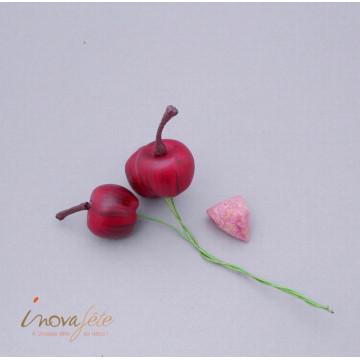 Mini pommes rouge /12 - Label Fête