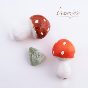 Déco champignon sur tige /12 - Label Fête