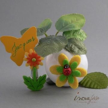 Coccinelle sur sa fleur /16 - Label fête