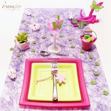 Chemin de table violet  0.38x25m - Label Fête