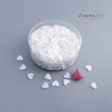 Mini coeur satin blanc /750 - Label Fête