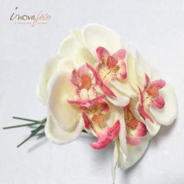 Orchidée ivoire sur tige /6 - Label Fête