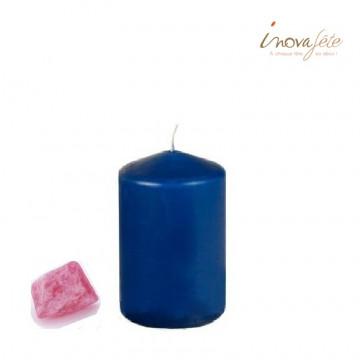 Bougie cylindrique bleu marine - Label Fête