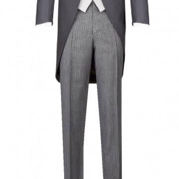 Pantalon de jaquette rayé gris - Label Fête