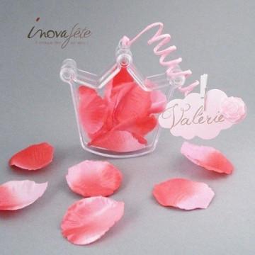 Fil tourbillon cordon rigide rose