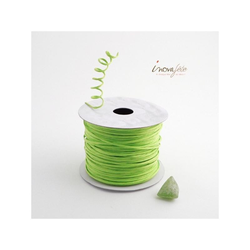Fil cordon rigide vert anis