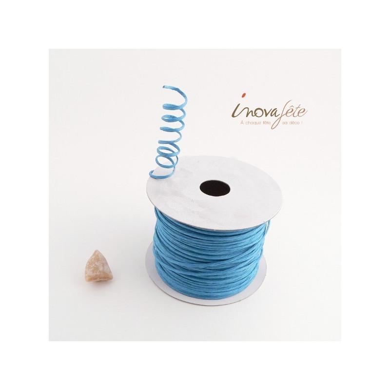 Fil cordon rigide bleu turquoise