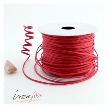 Fil tourbillon cordon rigide rouge