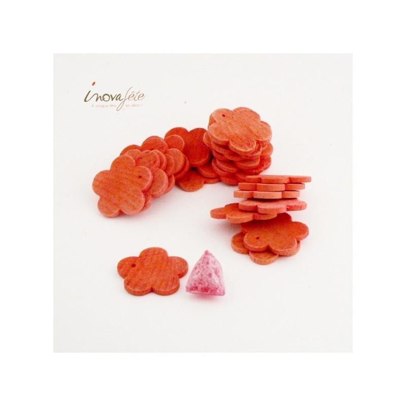 Fleur de bois orange /24