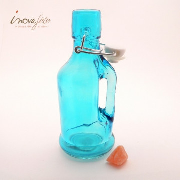 Bouteille bleue turquoise