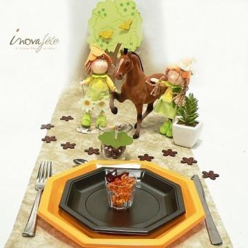 Arbre en bois et ses oiseaux, une décoration de table inédite