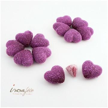 Cœur violet /12 - Label Fête