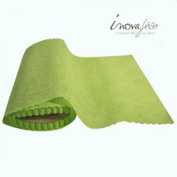 Chemin de table liberty festonné vert 0.28x10m
