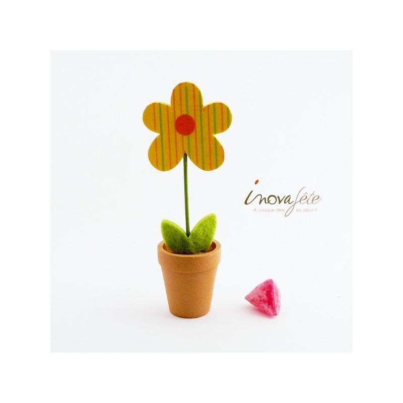 Fleur bois en pot gm - Label Fête
