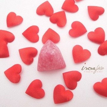 Mini coeur satin rouge /750