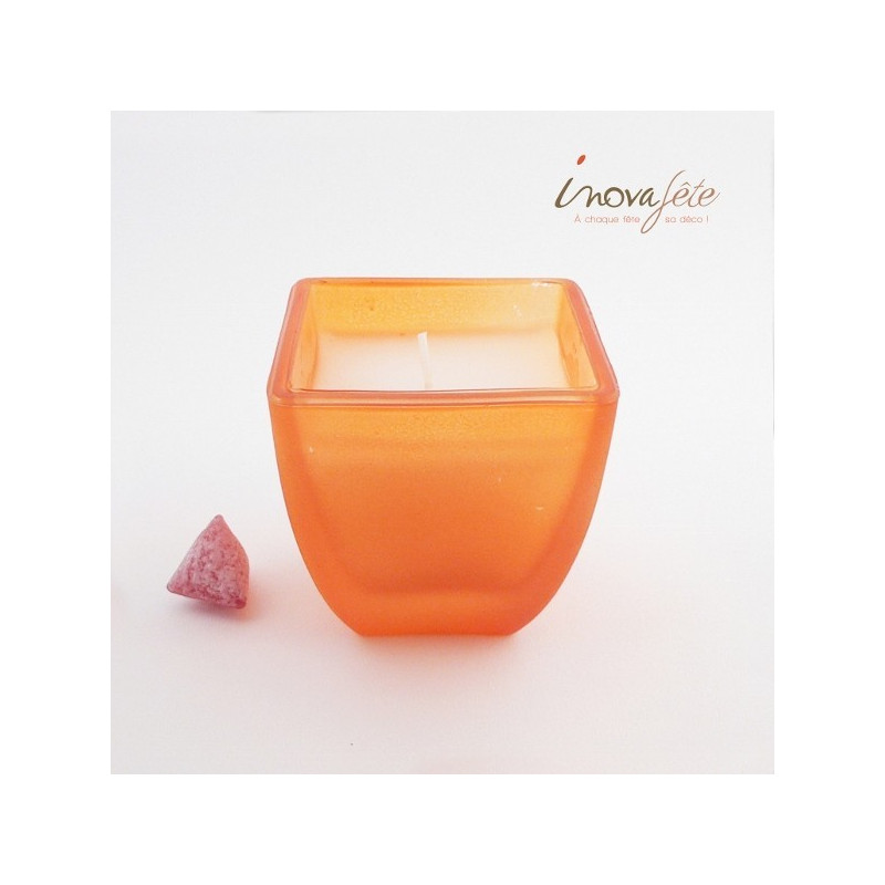 Photophore orange Duni - Label Fête