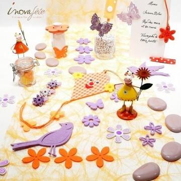 Pince papillon métal violet /3 - Label Fête