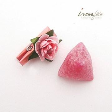 Pince bois rose et sa fleur /12