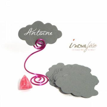Étiquette nuage gris /25 - Label Fête