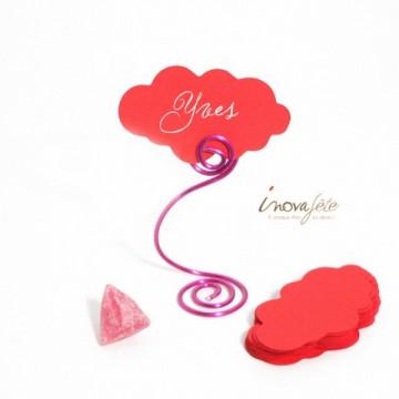 Étiquette nuage rouge /25 - Label Fête