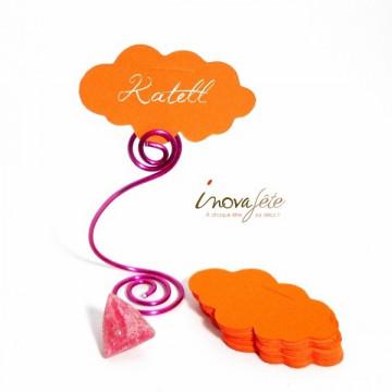 Étiquette nuage orange /25 Label Fête