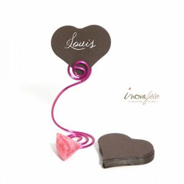 Étiquette cœur chocolat /25 - Label Fête