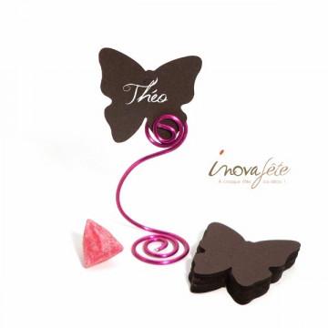 Étiquette papillon chocolat /25 - Label Fête