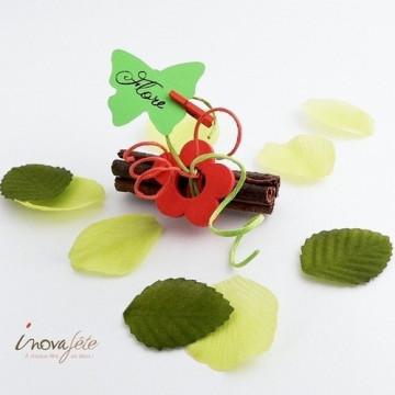 Etiquette papillon anis /25