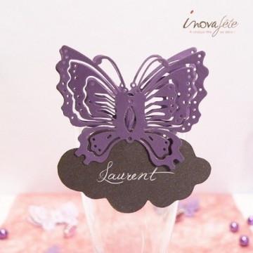 Étiquette nuage prune irisé /25 - Label Fête