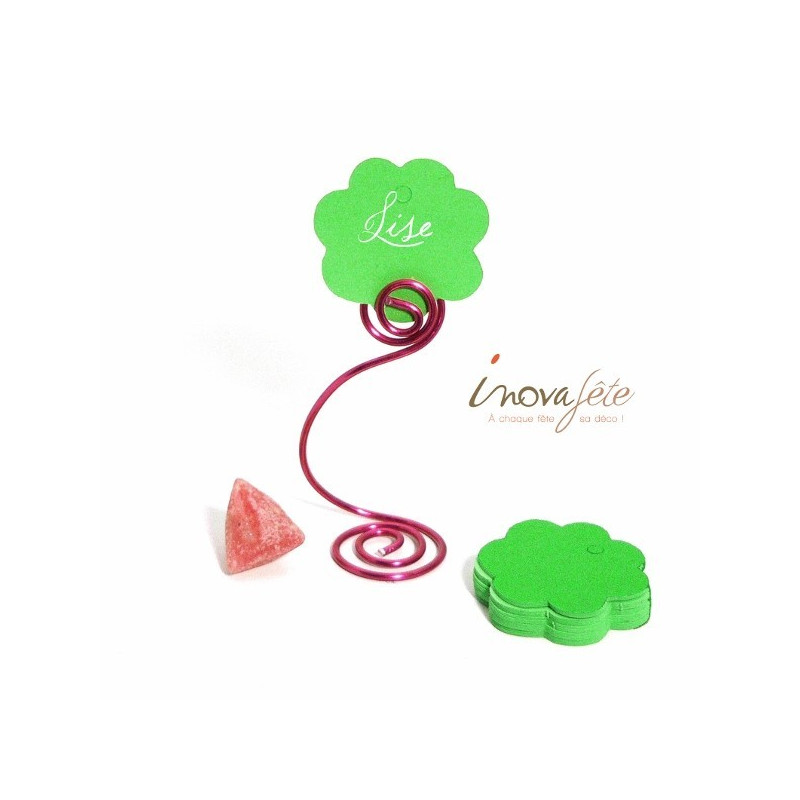 Etiquette fleur verte /25
