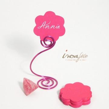 Etiquette fleur rose fuchsia /25
