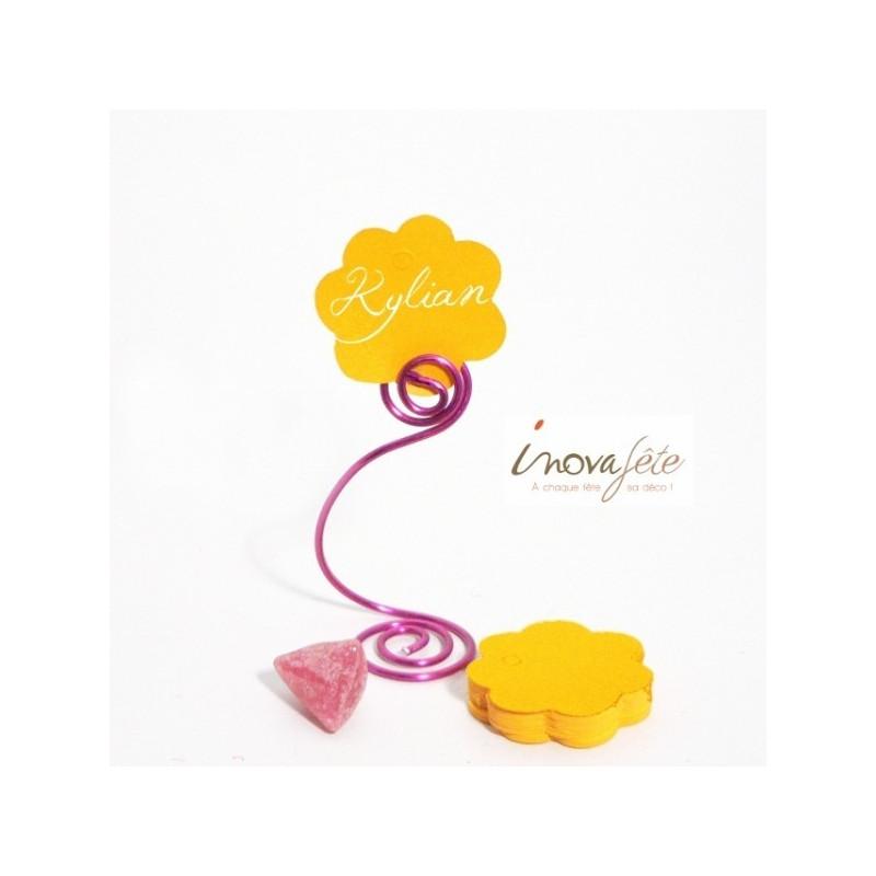 Etiquette fleur jaune /25
