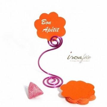 Etiquette fleur orange /25