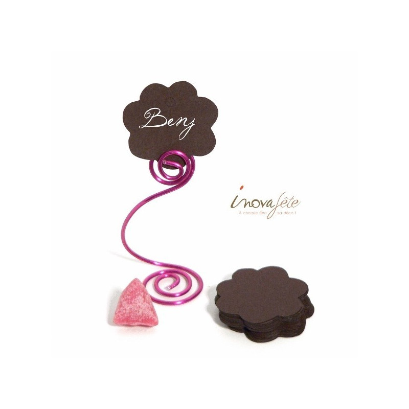Etiquette fleur chocolat  /25