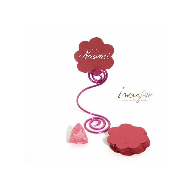 Etiquette fleur rouge /25